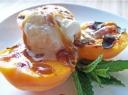 Abrikosų ir grietinėlės desertas